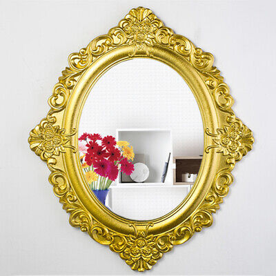 £24.99 • Buy Gothic Wall Mirror Resin Antique Style Oval Gold Frame Hanging Home Decor GIFT