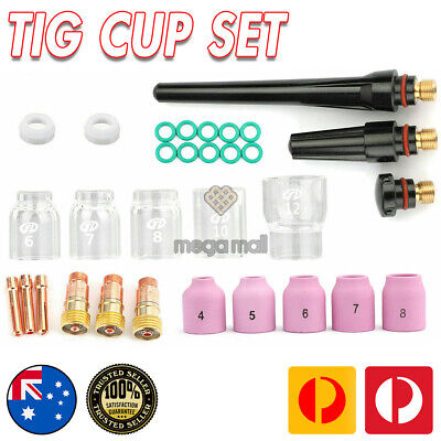 AU54.99 • Buy 31Pcs TIG Welding Torch Stubby Gas Lens Pyrex Glass Cup Kit Fits For WP-17/26 SL