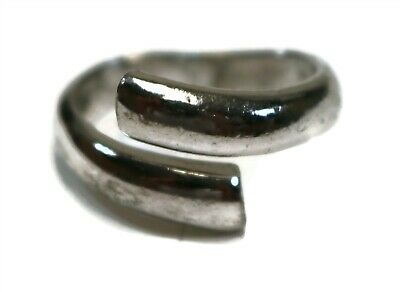 $ CDN8.89 • Buy LIA SOPHIA Signed Silver Tone Overlapping Adjustable Ring SIZE 8