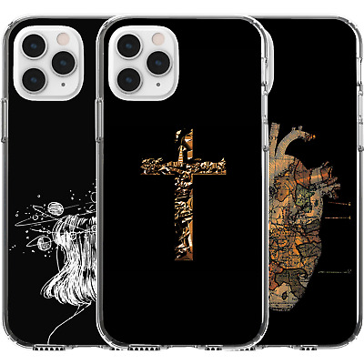 £9.22 • Buy Silicone Cover Case Poetic Cross Heart World Map Girl Galaxy Planets Sun Center