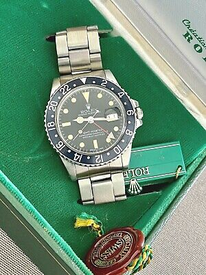 $ CDN20769.78 • Buy Rolex Vintage 1675 Gmt Master Watch Stainless Steel Black/black