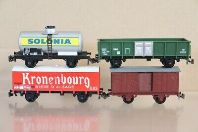 AU45.49 • Buy JOUEF PLAYCRAFT RAKE Of 4 SNCF SOLONIA KRONENBOURG OPEN & CLOSED WAGON Nv