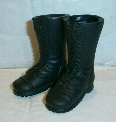 £7.99 • Buy 21st Century US Tall Black Boots 1/6th Scale Toy Accessory