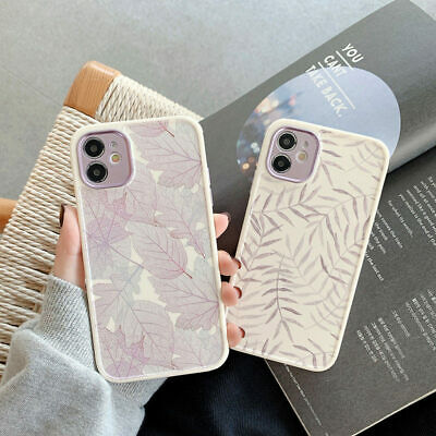 AU12.25 • Buy Ins Leaves Cute Fashion IPhone 12 Pro Max 11 8 Plus XS Matte Silicone Case Cover