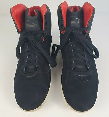 AU88.79 • Buy PUMA X FERRARI Size 10 Mens Black Red High Top Trainers Sneakers Shoes Casual