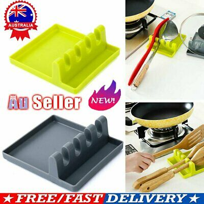 AU10.31 • Buy Spoon Rest Colorful Tool Heat Kitchen Holder Cooking Silicone Resistant Utensil~