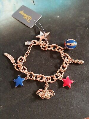 £59.99 • Buy Disney Couture Kingdom Dumbo Rose Gold- Plated Circus Charm Bracelet NEW In Box