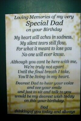 £2.75 • Buy Laminated Memorial Remembrance Dad Birthday Grave Card