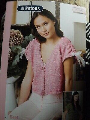 £1.10 • Buy  Knitting Pattern Crop Cardigan And Top Patons Reef 6 Sizes 32  - 42