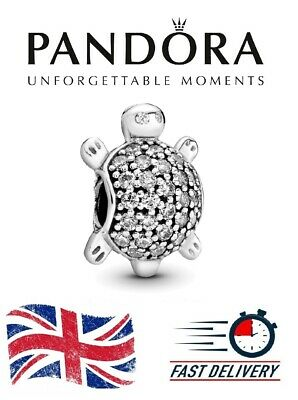 £14.99 • Buy New Authentic Pandora Silver S925 ALE Pave Sea Turtle Charm + Free Gift Pouch