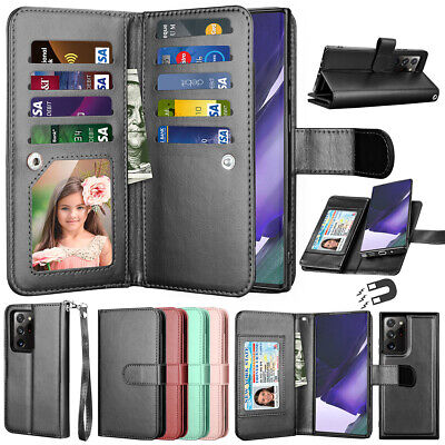 $ CDN12.63 • Buy For Samsung Galaxy Note 20 20 Ultra 10+ 9 8 Wallet Case Flip Leather Stand Cover