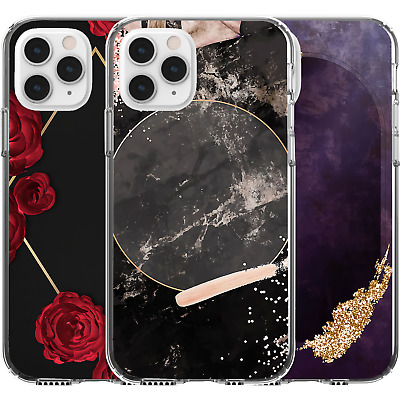 AU16.95 • Buy Silicone Cover Case Flowers Frame Marble Purple Wall Golden Red Rose