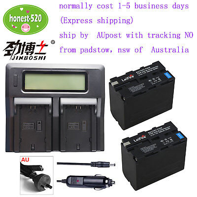 AU96.96 • Buy 2xNP-F970 Camcorder Battery+Charger For Sony NP-F960 NP-F970 NP-F550 NP-F750  AU