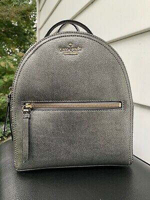 $ CDN126.31 • Buy Kate Spade Patterson Avenue Sammi Leather Backpack Pewter WKRU5647 New W/out Tag