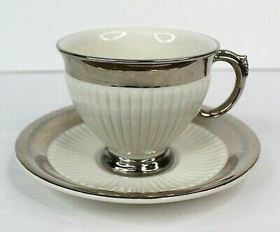 $ CDN19.88 • Buy Vintage Royal Winton Grimwades White With Silver Trim Footed Tea Cup And Saucer