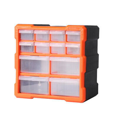 AU22.99 • Buy Tool Storage Cabinet Organiser Drawer Bins Toolbox Part Chest Divider 12 Drawers