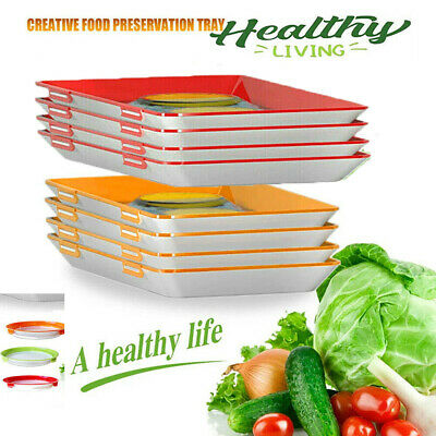 AU10.71 • Buy Creative Food Preservation Tray Healthy Kitchen Refrigerator Storage Container