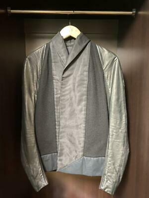 Rick Owens Riders Jacket Blouson Wool Leather Cashmere Women's US 6 From Japan • 260.61£