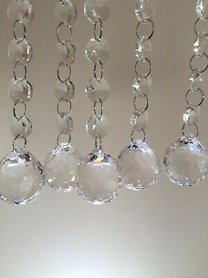 £19.95 • Buy 5 X K9 Crystal Chandelier Glass Pendant Bead Links Garlands Chains Replacements