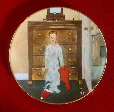 $ CDN7.54 • Buy Christmas Norman Rockwell 'The Truth About Santa' 1974 Collectors' Plate