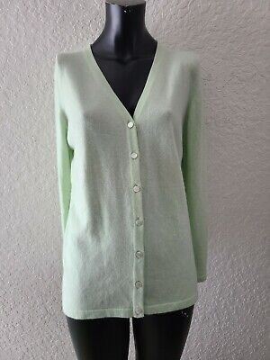 N Peal Cashmere Cardigan Green Sweater Women's Large • 57.45£
