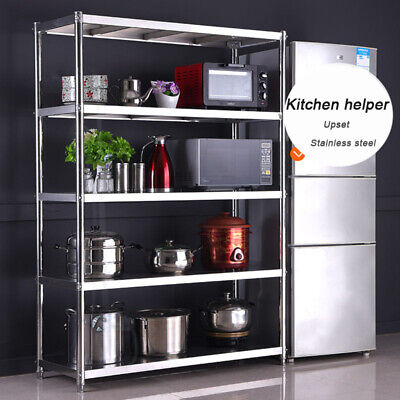 Stainless Steel Kitchen Racks Heavy Duty Storage Commercial Shelf Catering Unit  • 151.14£