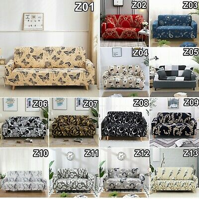 AU28.49 • Buy 1/2/3/4 Seater High Stretch Sofa Covers Lounge Couch Slipcover Protector Covers