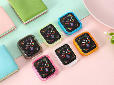 $ CDN8.77 • Buy IWatch Apple Watch Series 6 SE 5 4 3 2 1 Bumper Cover Case With Screen Protector