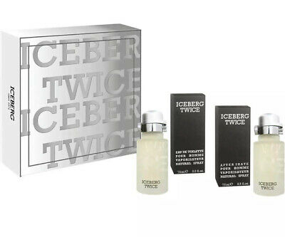 Iceberg Twice EDT 75 ML After Shave Man Perfume Gift Box • 19.99£
