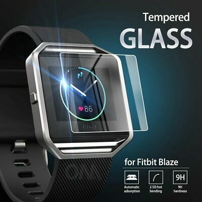 AU7.73 • Buy 5Pcs 9H Premium Tempered Glass For Fitbit Blaze Smartwatch Screen Protector