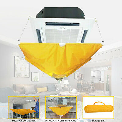 AU88.65 • Buy Air Conditioner Cover Cleaning Protector Washing Bag Waterproof Home Clean Tool