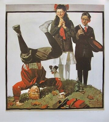 $ CDN62.68 • Buy NORMAN ROCKWELL  COUSIN REGINALD IS CUT OUT  1983 Plate Signed L/E Lithograph