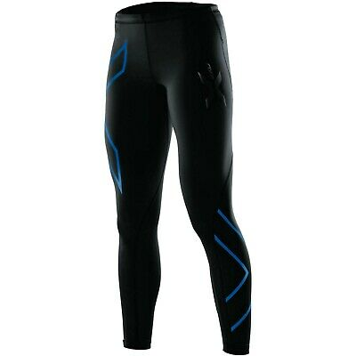 AU39.95 • Buy NEW Womens 2XU Full Length Compression Tights, Black/Blue Size S