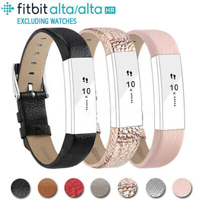 AU8.84 • Buy Replacement Genuine Leather Wrist Watch Bands Bracelet Strap For Fitbit HR  Alta