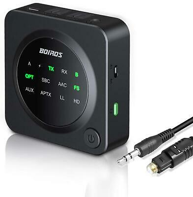 Bluetooth 5.0 Transmitter Receiver, BOIROS 2-in-1 Wireless Audio Adapter For TV • 30.85£