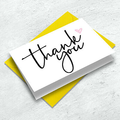£2.95 • Buy 10-Pack Mini Thank You Cards - A7 - Birthday - Wedding - Teacher - Any Occasion