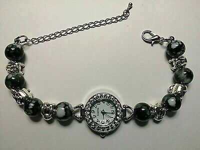 £10.99 • Buy Handmade Silver BUNNY / RABBIT Watch Bracelet With 6 Silver Charms