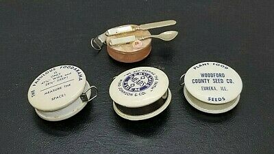 Celluloid Advertising Tape Measures - Vintage  Collection Of 3 Plus 1 Novelty  • 38.04£