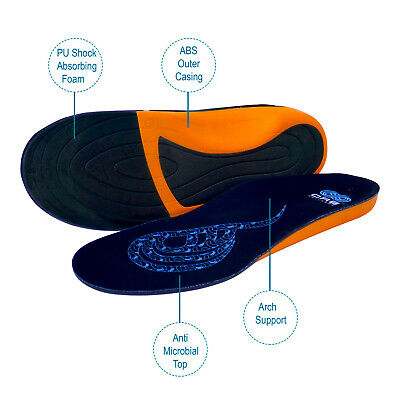 £8.99 • Buy Insoles For Work Boots Shoes Durable Arch Support Heel Pain Plantar Fasciitis UK