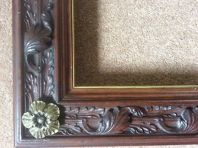 Antique Gothic Revival Handcarved Victorian C19th Wooden Picture Frame Gilt Rose • 1,450£