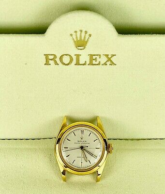 $ CDN2986.87 • Buy Vintage Rolex Precision Oyster Perpetual 29mm Gold Shell Ladies Watch Ref 6020