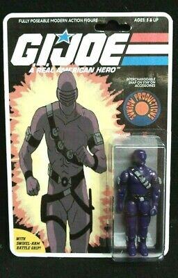 $ CDN94.15 • Buy Gi Joe Cobra 1985 Snake Eyes Custom Sunbow Cartoon Action Figure On Card