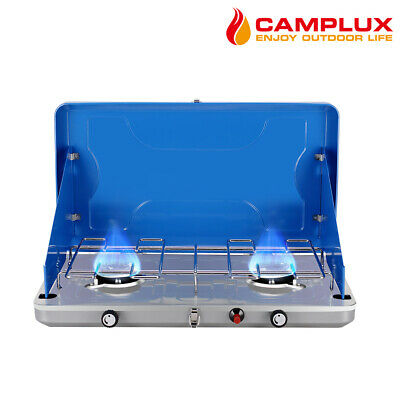 AU89 • Buy CAMPLUX 2 Burner Gas Camping Camp Portable Stove Cooker Propane BBQ Stove Cooker