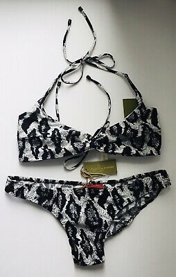 AU60 • Buy Tigerlily Bikini Size 14  Black And White New With Tags RRP $185.00 Halter Neck