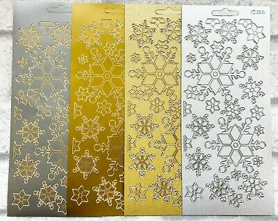 £1.69 • Buy Christmas Snowflakes Assorted Colours Card Craft Peel Off Stickers