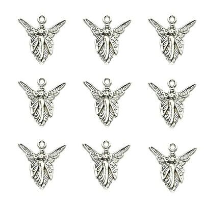 Fairy Angel Charms Tibetan Silver Pendant Pack Of 20 • 2.40£