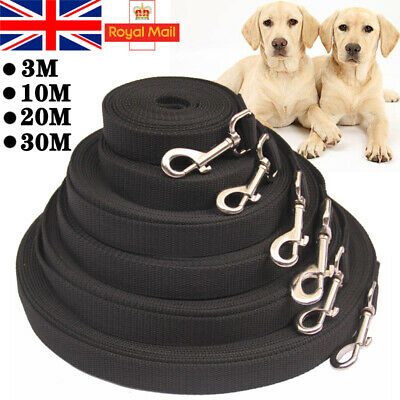 £6.99 • Buy Heavy Duty Extra Long Dog Training Lead Strong Leash Large Recall Line Walking
