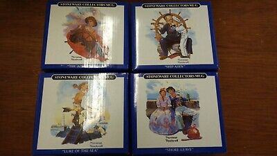$ CDN31.83 • Buy Norman Rockwell Mariners  Collection Long John Silver Coffee Cups Mugs Set Of 4
