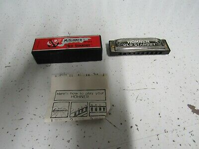 $12.99 • Buy M. Hohner Harmonica Old Standby No.34B Key Of C W/Instructions & Box Excellent
