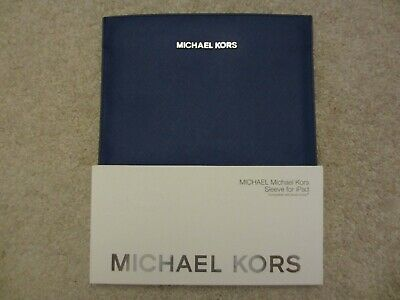 £42.49 • Buy 🔥 $80 NEW MK Michael Kors Blue Saffiano Leather Sleeve Case For Apple IPad Air